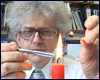 Martyn Poliakoff and a candle